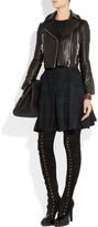 McQ by Alexander McQueen Suede and polished-leather over-the-knee boots