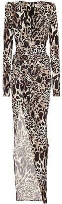 Alexandre Vauthier Leopard-print stretch-jersey gown