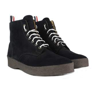Thom Browne Navy Suede Boots