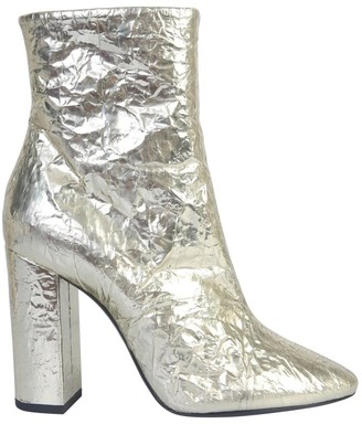 Saint Laurent Metallic High Heel Boots