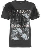 Topshop Lace ruffle rock t-shirt
