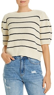 Vero Moda Crochet Striped Cropped Sweater