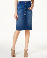 Tommy Hilfiger Button-Front Skirt, Only at Macy's
