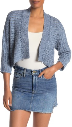 Kinross 3/4 Sleeve Pointelle Cardigan