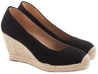 J.Crew Seville Wedge Espadrille (Black) Women's Shoes