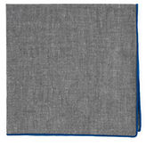 The Tie Bar Chambray Pocket Square