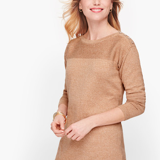 Talbots Contrast Stitch Sweater - Marled