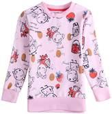 Tiful Peppa Pig Little Girls Spring Fall Long Sleeve Cartoon Animal Printing Cotton T Shirts