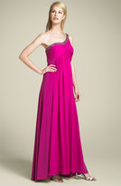 One Shoulder Gown with Bead Detail