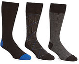 Cole Haan Modern Diamond Crew Dress Socks 3-Pack