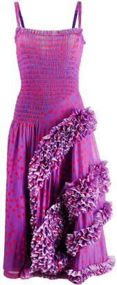 Molly Goddard polka dot flamenco-styled dress