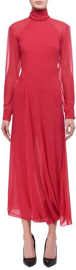 Victoria Beckham Open-Back Turtleneck Midi Dress