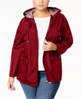 Karen Scott Plus Size Hooded Rain Jacket, Created for Macy's