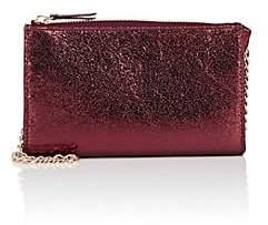 Barneys New York WOMEN'S HANNAH METALLIC LEATHER CROSSBODY BAG - RED
