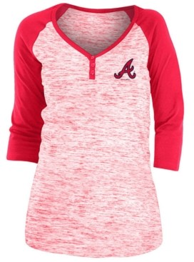5th & Ocean Atlanta Braves Women's Space Dye Raglan Shirt