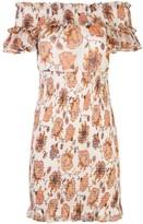 Shona Joy floral-print smocked off-the-shoulder mini dress