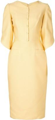 Saiid Kobeisy V-neck front button dress