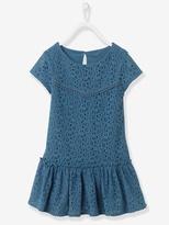 Vertbaudet Girls Lined Lace Dress