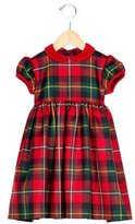 Oscar de la Renta Girls' Collared Plaid Dress