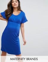 Mama Licious Mama.licious Mamalicious Gathered Jersey Dress