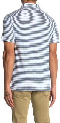 J.Crew Stripe Slub Jersey Short Sleeve Polo