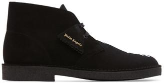 Palm Angels Black Clarks Originals Edition Logo Desert Boots