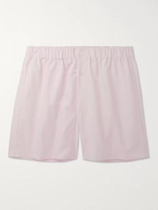 Emma Willis Cotton Oxford Boxer Shorts - Men - Pink