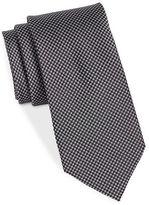 Black Brown 1826 Narrow Silk PinDot Tie