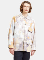 Acne Studios Men's Mirror Oversized Faded Print Jacket In Blue, Mauve And Orange
