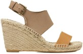 Sole Society Bi-Color Wedge Platform Sandal