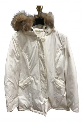 Woolrich White Synthetic Coats