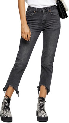 Topshop Bondi Frayed Hem Jeans