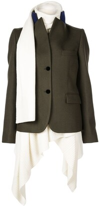 Sacai Knit Underlay Coat