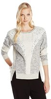 Rebecca Taylor Women's Mixed Media Sweatshirt