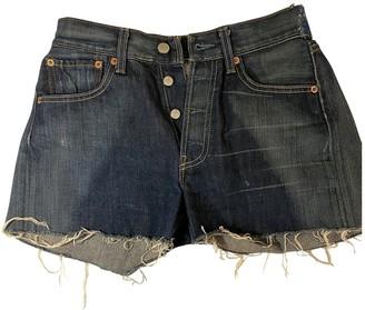 Levi's 501 Blue Cotton Shorts for Women Vintage