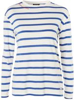 Topshop Romantic Tab Stripe T-Shirt