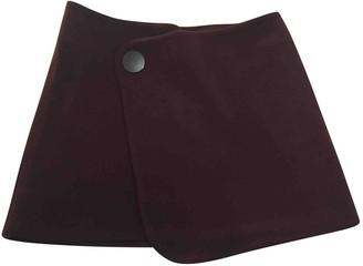 Vanessa Bruno Burgundy Wool Skirts