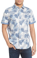 Jeremiah Cal Regular Fit Short Sleeve Tropical Print Sport Shirt