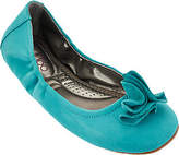 Me Too Leather Ballet Flats w/ Flower Detail -Lexi