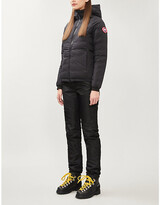 Canada Goose Ladies Black Camp Quilted Shell-Down Hooded Jacket, Size: XS