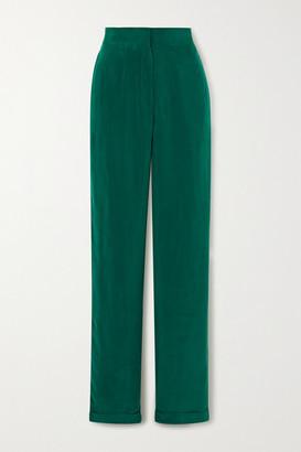 MATÉRIEL Cupro Straight-leg Pants - Green