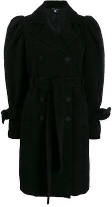 Wandering Puff Sleeve Double-Breasted Coat