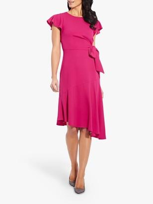 Adrianna Papell Divine Crepe Dress, Bright Azalea