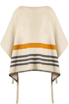 Chloé Tie-side wool and cashmere-blend poncho