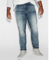 Express classic slim medium wash stretch jeans