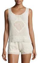 Joie Lana Hand-Crocheted Sleeveless Top