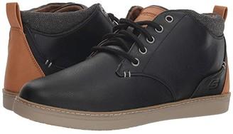 Skechers Classic Fit Helmer (Black) Men's Lace up casual Shoes