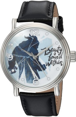 Disney Men's Beauty Analog-Quartz Watch with Leather-Synthetic Strap