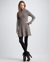 Autumn Cashmere Flared Turtleneck Dress