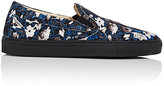 Barneys New York Men's Slip-On Sneakers-BLACK